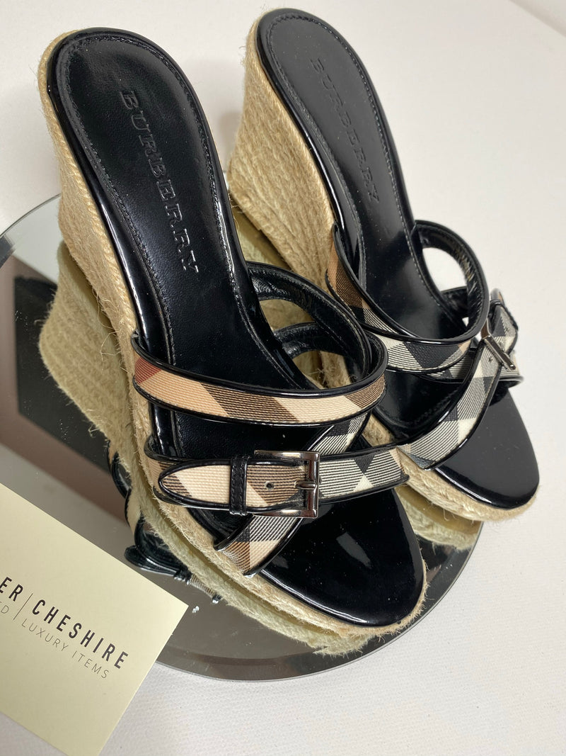 Burberry Wedges (Size 38/UK5)