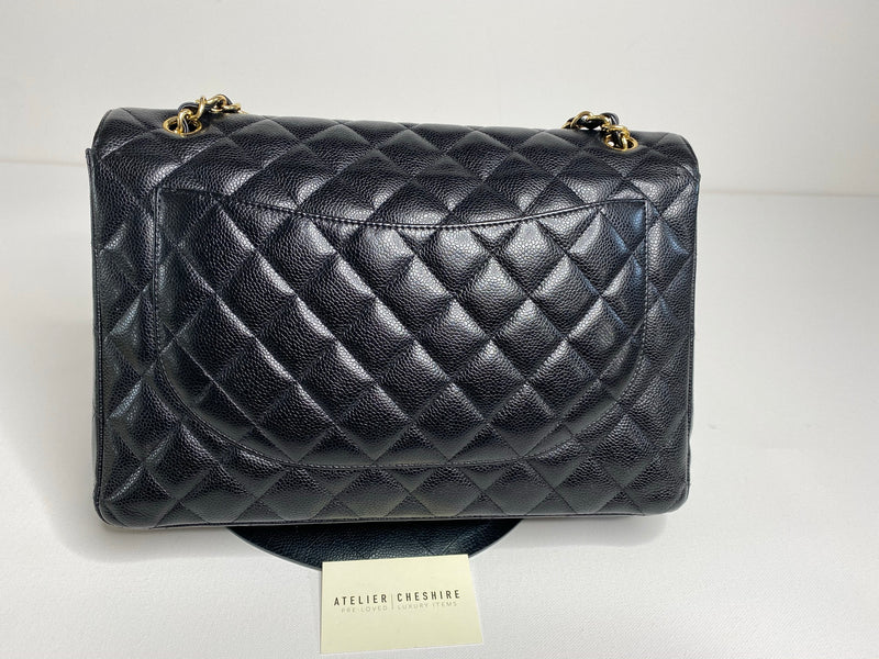 Chanel Maxi Timeless Classique in Caviar Black Leather with GHW