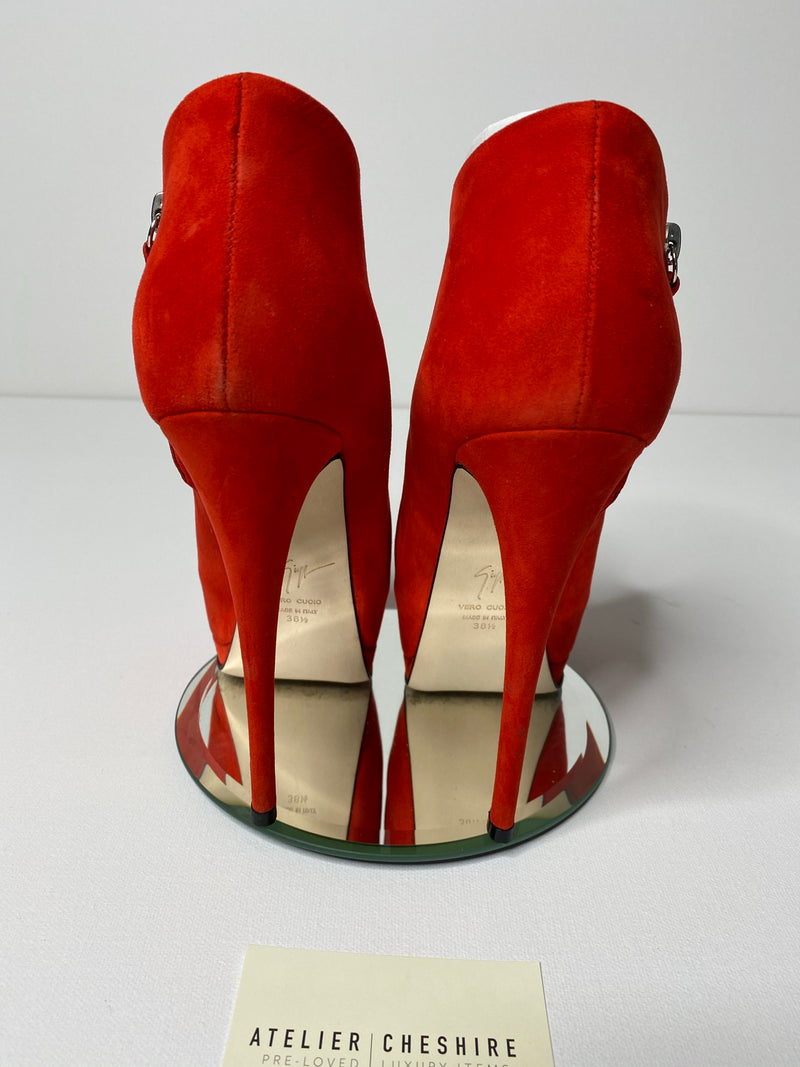 Giuseppe Zanotti Sharon Booties in Red (Size 39)