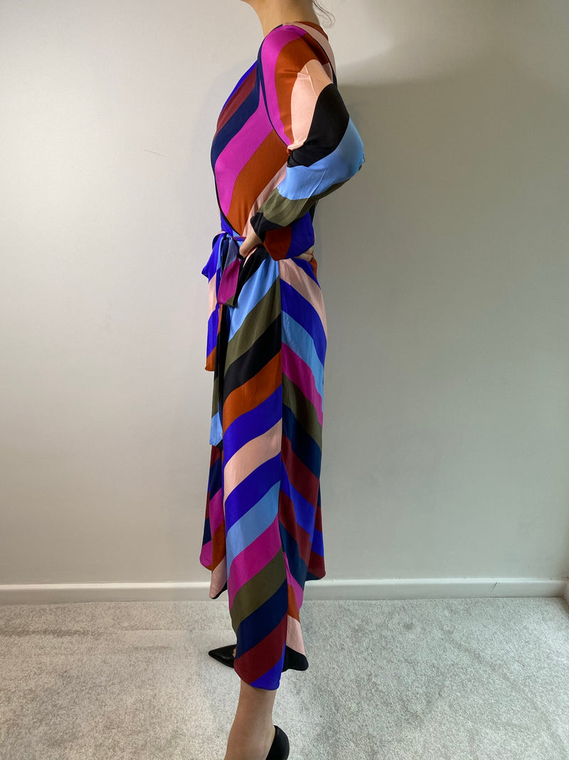 Diane Von Furstenberg Silk Wrap Dress (Size 10)