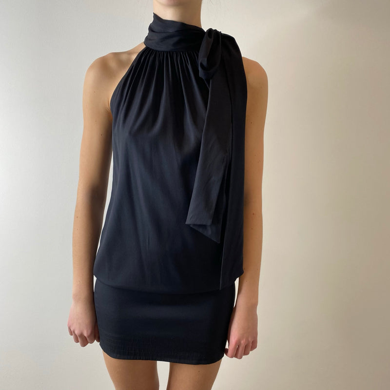Diane Von Furstenberg Silk Dress in Black (Size 8)