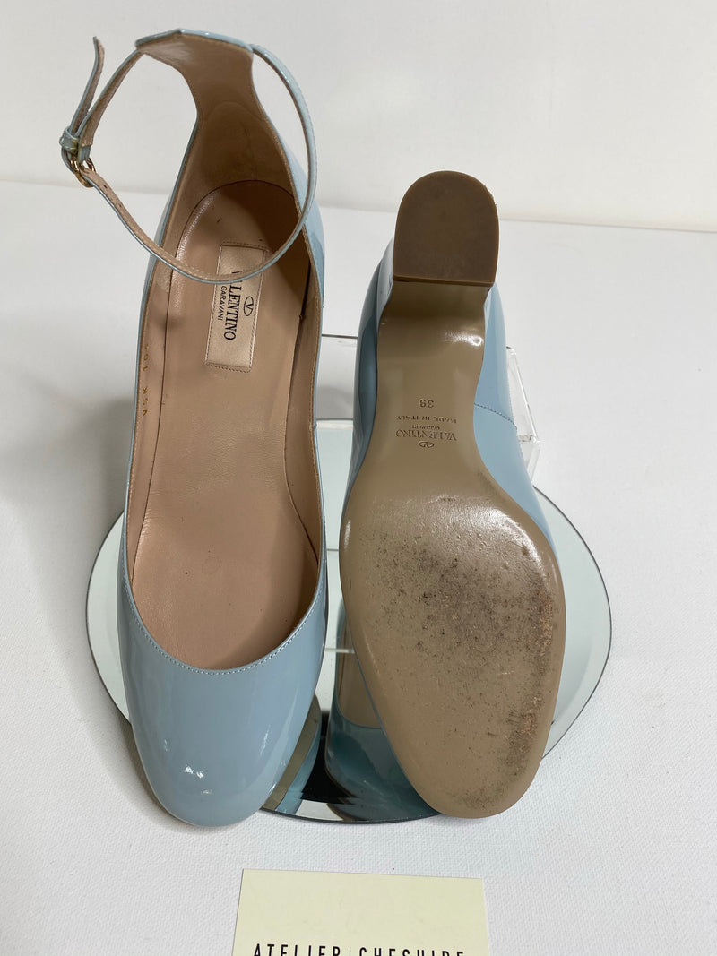 Valentino Tan-Go Mary Janes in Baby Blue (Size 39)