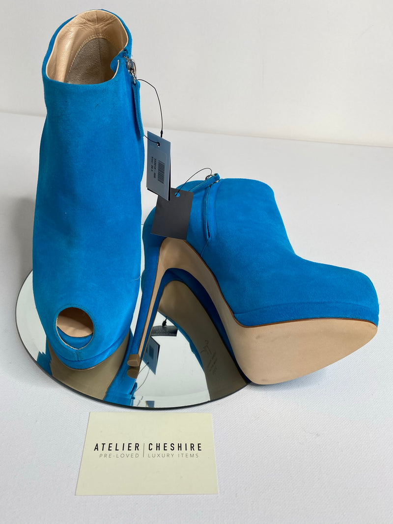 Giuseppe Zanotti Sharon Booties in Teal (Size 39) BRAND NEW
