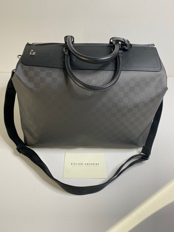 Louis Vuitton Limited Edition Weekender i8 Luggage Holdall GM in Damier Carbone