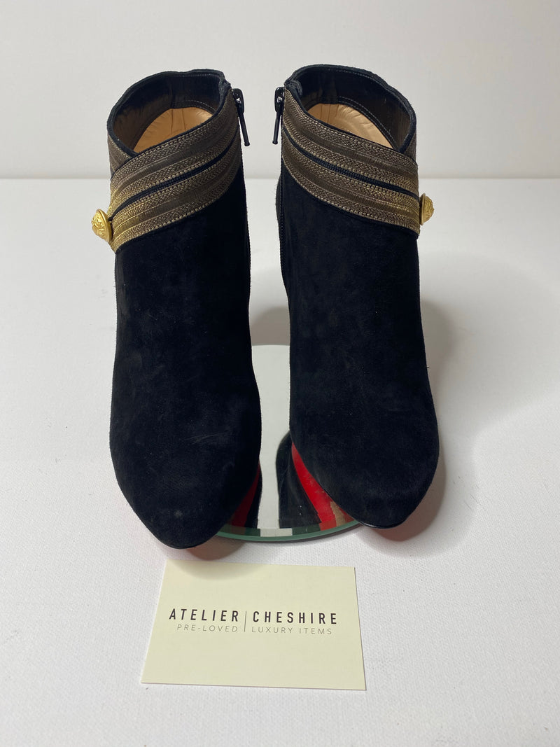 Christian Louboutin Marychal 100 in Black/Gold (Size 39)