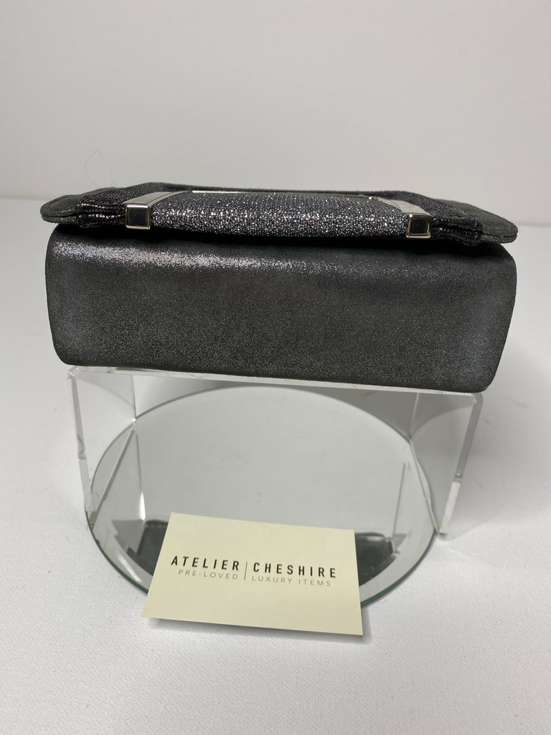 Jimmy Choo Suede and Lame Evening bag in Pewter with SHW