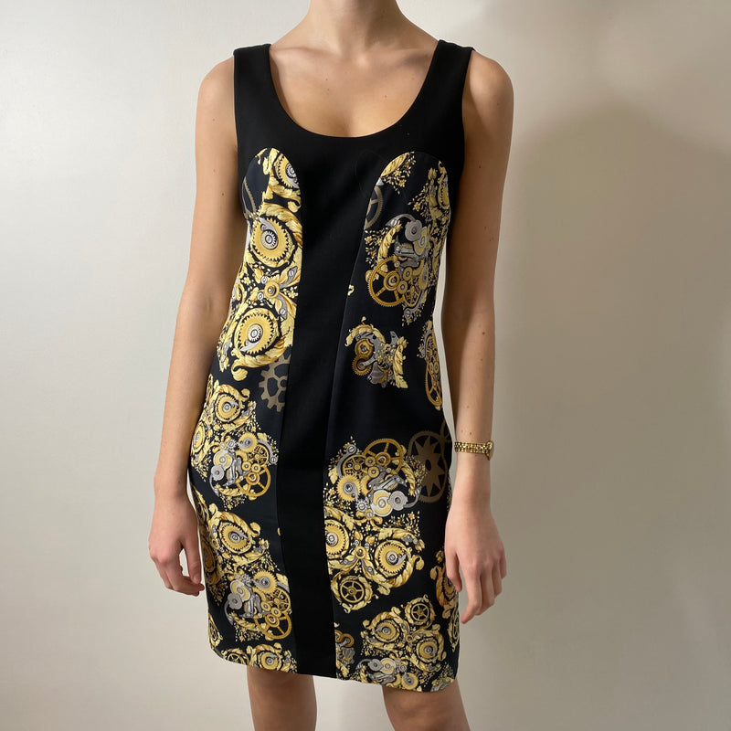 Versace Print Dress UK10/12