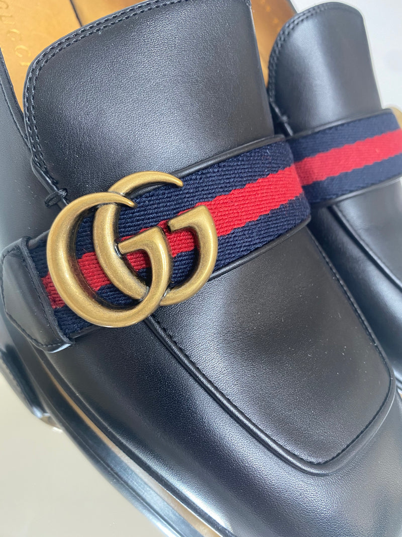Gucci Peyton Loafers in Black (Size 39)