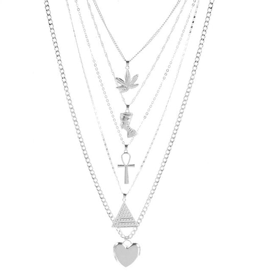 Multilayer Necklace Pendent Set