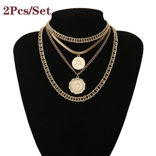 Queen Coin Pendant Necklace