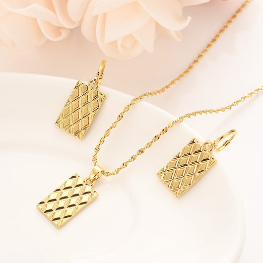Square Pendant Jewelry set