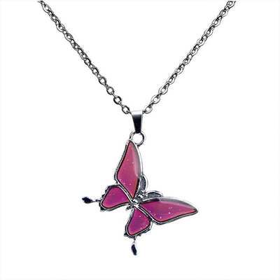 Color Changing Butterfly Pendant w/Chain