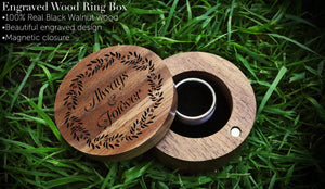 everaftercreative Ring Box Always and Forever Engraved Ring Box, Wedding Ring Box, Wood Engagement Ring Box, Ring Bearer Box, Ring Holder Box, Jewelry Box.