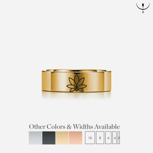 everaftercreative Ring Box Cannabis Wedding Band, Weed Wedding Ring, Weed Jewelry, Cannabis Lover Ring, Stoner Ring, Pot Leaf Jewelry