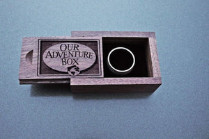 Open image in slideshow, everaftercreative Ring Box Carl and Ellie Wood Wedding Ring Box, Disney Up Movie Heart Box, Balloon House Heart Ring Box, UP Movie Ring Box, Our Adventure Ring Box.