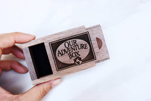 everaftercreative Ring Box Carl and Ellie Wood Wedding Ring Box, UP Movie Ring Box, Our Adventure Book Ring Box,.