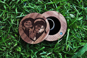 everaftercreative Ring Box Carl and Ellie Wooden Ring Box, Carl Wedding Ring Box, Carl and Ellie Ring Box, Carl Ellie Ring Box.