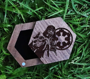 Open image in slideshow, everaftercreative Ring Box Star Wars Darth Vader Ring Box, Darth Vader Wedding Ring Box, Star Wars Jewelry Box, Star Wars Box.