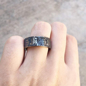 everaftercreative Ring Circuit Board Ring for Men, Computer Wedding Ring, Circuit Board Wedding Ring.