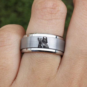 Open image in slideshow, everaftercreative Ring Darth Vader Ring, Darth Vader Jewelry, Darth Vader Spinner Ring, Darth Vader Engagement Ring