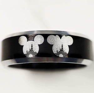 everaftercreative Ring Disney Castle Engagement Ring, Mickey and Minnie Ring, Mickey Wedding Ring, Minnie Wedding Band