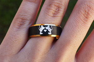 Open image in slideshow, everaftercreative Ring Disney Engagement Ring, Mickey and Minnie Ring, Mickey Wedding Ring, Disney Castle Rings.