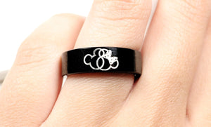 Open image in slideshow, everaftercreative Ring Disney Jewelry, Mickey Minnie Wedding Band, Disney Ring, Mickey and Minnie Ring, Mickey Minnie.