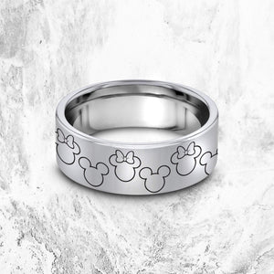 Open image in slideshow, everaftercreative Ring Disney Matching Promise Ring, Disney Wedding Band, Mickey Minnie Wedding Band, Disney Jewelry.