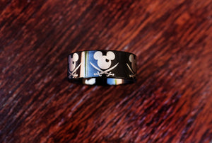 everaftercreative Ring Disney Pirate Ring, Mickey and Minnie Ring, Mickey Wedding Ring, Minnie Wedding Band, Minnie Mickey