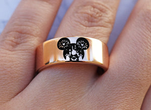 Open image in slideshow, everaftercreative Ring Disney Promise Ring, Mickey and Minnie Wedding Band, Mickey Wedding Ring, Disney Castle Ring