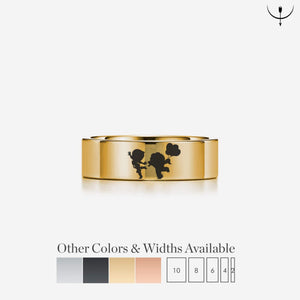 Open image in slideshow, everaftercreative Ring Disney Up Movie Carl and Ellie Wedding Band, Disney Grape Soda Ring, Disneyland Ring, Carl and Ellie Ring, Disney Wedding Ring, Symbol Ring