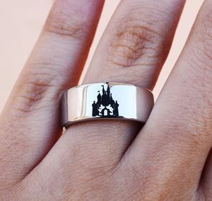 Open image in slideshow, everaftercreative Ring Disneyland Jewelry, Disney Castle Engagement Ring, Mickey Minnie Wedding Ring, Disney Wedding Ring