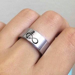 everaftercreative Ring Infinity Anchor Ring, You Are My Anchor Wedding Ring, Anchor Promise Ring, Actual Fingerprint Ring