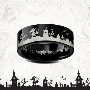 everaftercreative Ring Jack Skellington Engagement Ring, Nightmare Before Christmas Promise Wedding Ring Man.