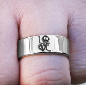 Open image in slideshow, everaftercreative Ring Jack Skellington Ring, Nightmare Before Christmas Engagement Wedding Ring Man, Promise Ring