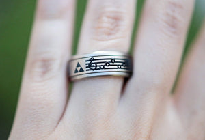 Open image in slideshow, everaftercreative Ring Legend of Zelda Tungsten Ring,  Zelda Video Game Ring, Princess Zelda Ring, Triforce Ring