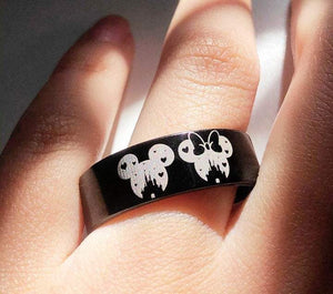 Open image in slideshow, everaftercreative Ring Matching Disney Ring, Disney Castle, Mickey Minnie Ring, Mickey Mouse Wedding Ring