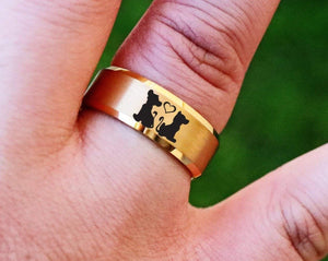 Open image in slideshow, everaftercreative Ring Simba and Nala Wedding Band, Lion King Ring, Lion King Jewelry, Hakuna Matata Ring, Nala Simba Gift.