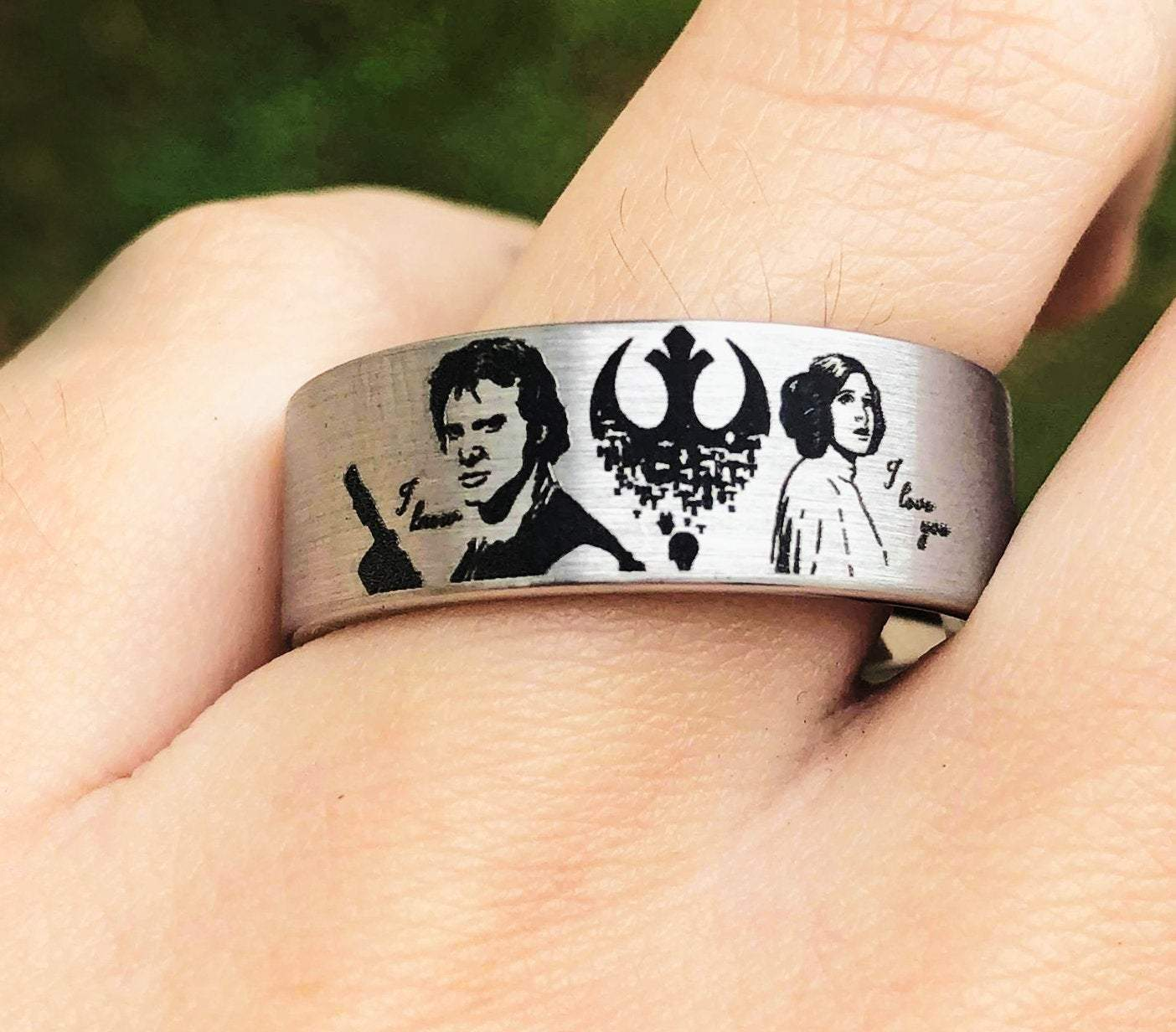 Star Wars Rings Han Solo Princess Leia Wedding Bands Jedi Rings Rebel Alliance Ring I Love You I Know Ring