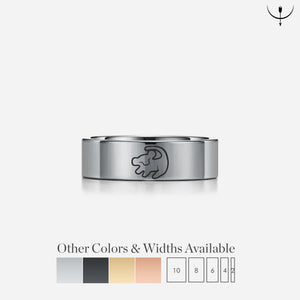 Open image in slideshow, everaftercreative Ring The Lion King Wedding Band, Nala Simba Wedding Ring, Hakuna Matata Jewelry
