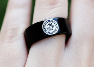 Open image in slideshow, everaftercreative Ring US Marines Ring, Army Reserve Ring, Coast Guard Ring, Air Force Military Ring, Marine Corps Ring
