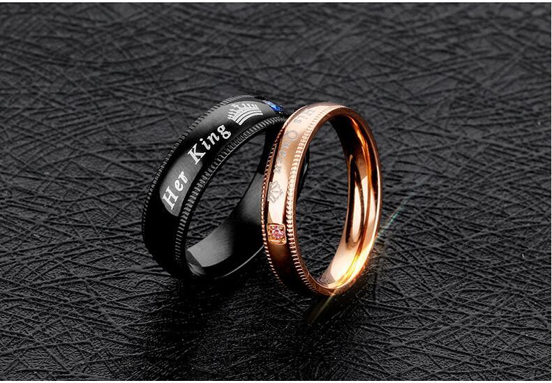 King Queen Couples Rings