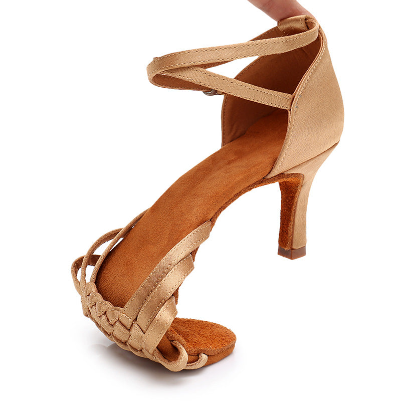 New Soft Comfortable Women's High-heeled Latin Dance