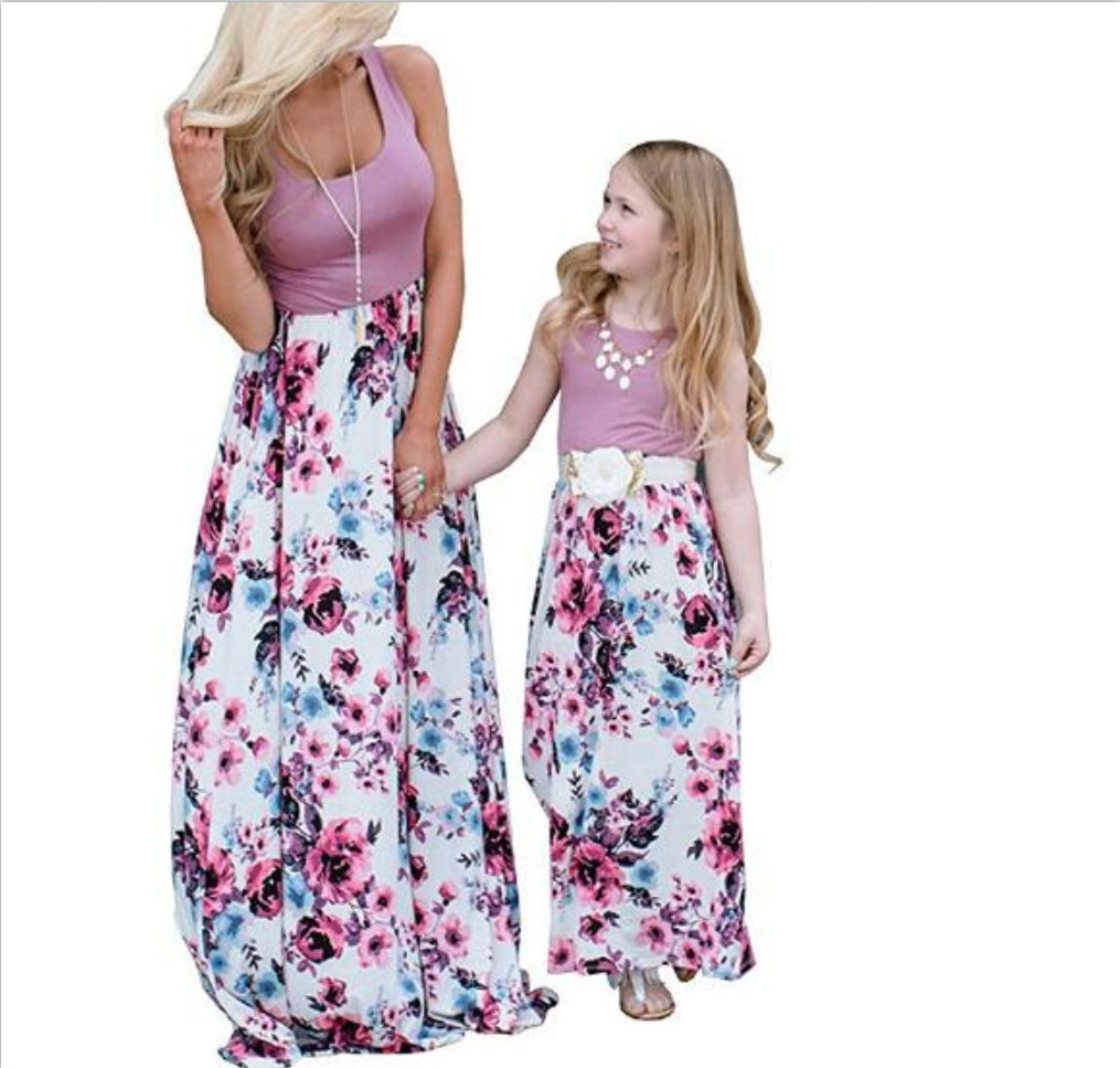 Mother and Daughter Dress Set Style 12