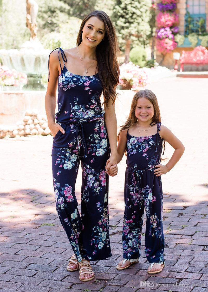 Mother and Daughter Jumpsuit Set