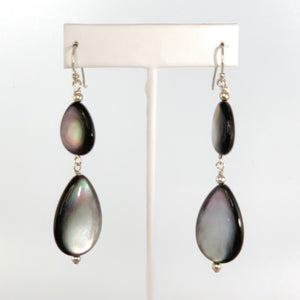 Mother of Pearl Earrings on Sterling