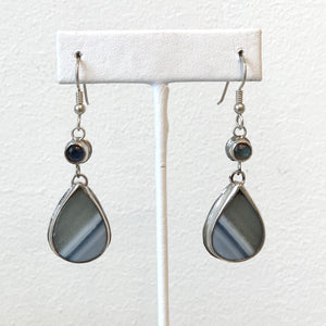 Teardrop Opal Wood Earrings