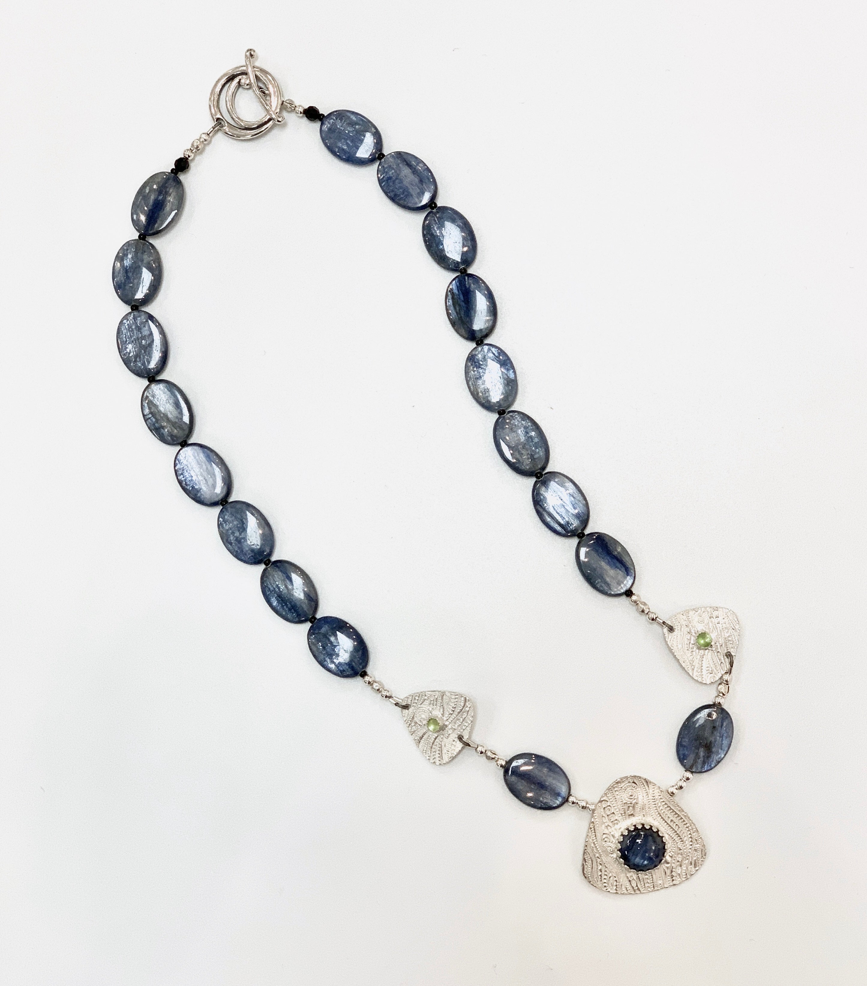 Kyanite Necklace with Fine Silver Accents