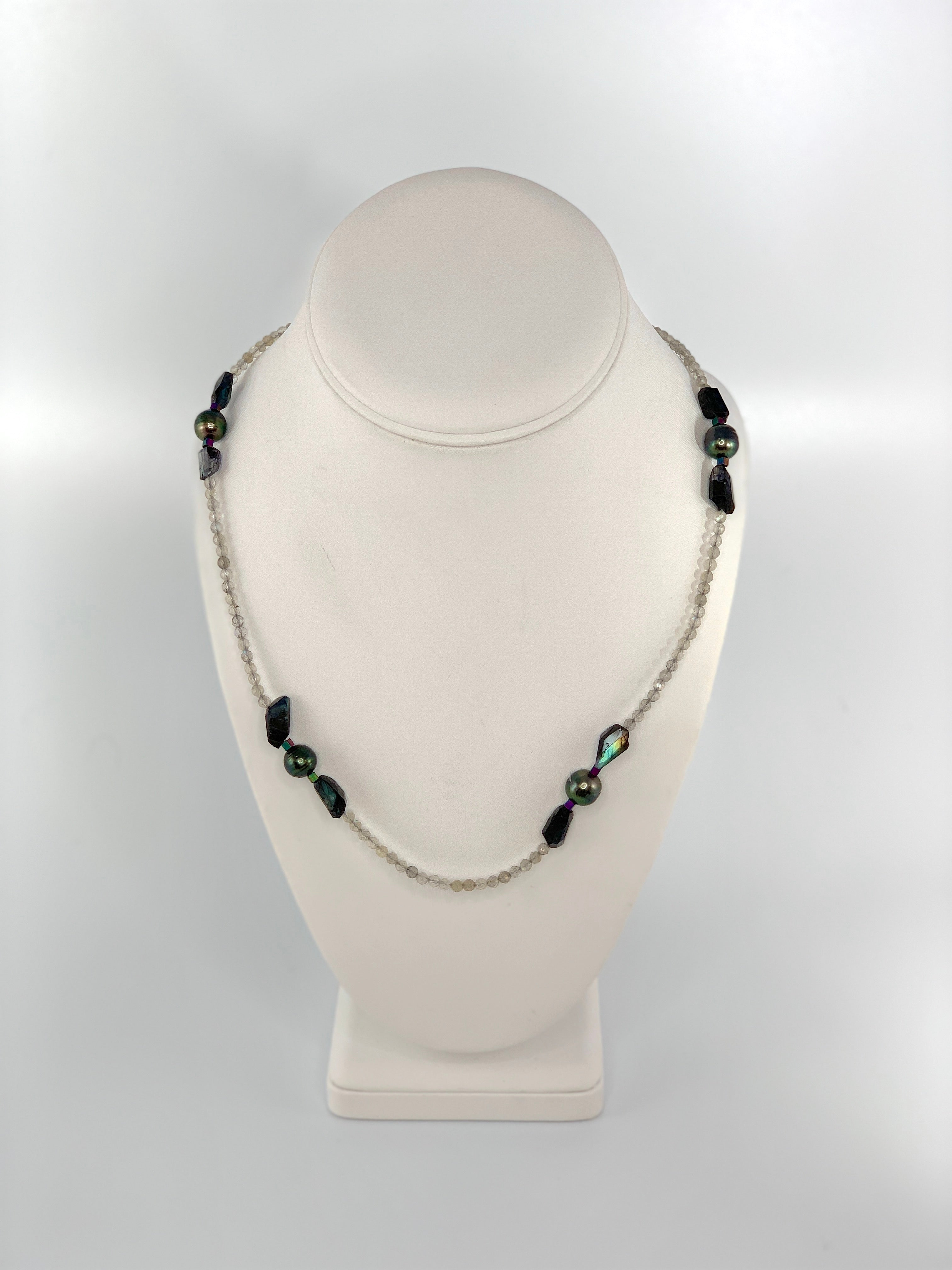 Labradorite and Tahitian Pearl Necklace