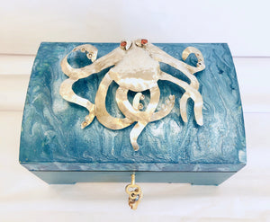 Sterling Silver Octopus Jewelry Box
